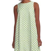 Greenery Polka Dots A-Line Dress