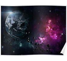 Cool galaxy and space Poster