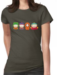 south park illustrations Womens Fitted T-Shirt