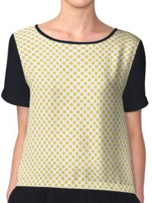 Primrose Yellow Polka Dots Chiffon Top
