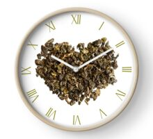 Dry curled leaves of Oolong tea Clock
