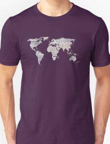 Newspaper World Map T-Shirt