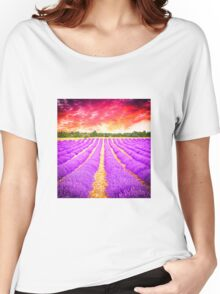 Lavender field Women's Relaxed Fit T-Shirt