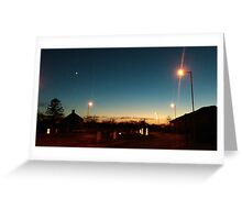 A sunset of English suburbia Greeting Card