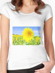 Sunflower field Women's Fitted Scoop T-Shirt