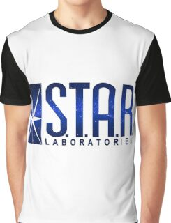 Blue Galaxy S.T.A.R. Labs Graphic T-Shirt
