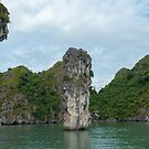 Karst cliffs and islands in Lan Ha Bay. by stuwdamdorp