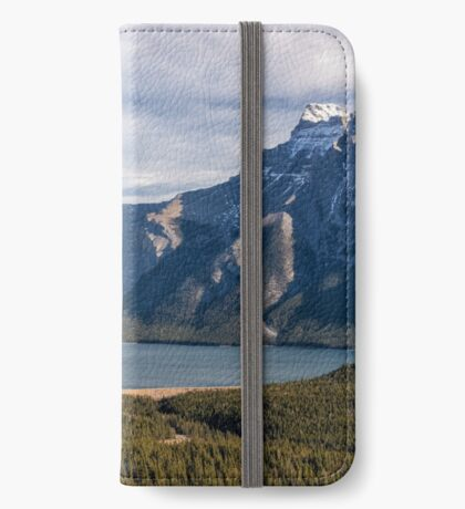 Looking Out at Lake Minnewanka iPhone Wallet/Case/Skin