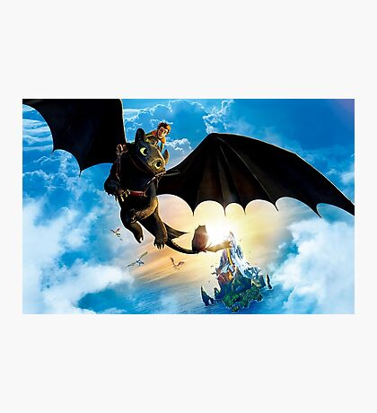 how to train your dragon Photographic Print