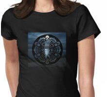 Moonlit Mandala Hula Hooper Womens Fitted T-Shirt