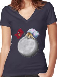 Herbert the Space Crab Women's Fitted V-Neck T-Shirt