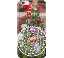 Tulips with Circle Pattern iPhone Case/Skin