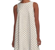 Iced Coffee Polka Dots A-Line Dress