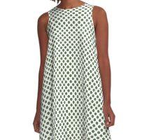 Kale Polka Dots A-Line Dress