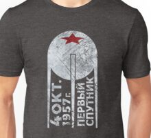 CCCP Sputnik 1 First Satellite - Silver Edition Unisex T-Shirt