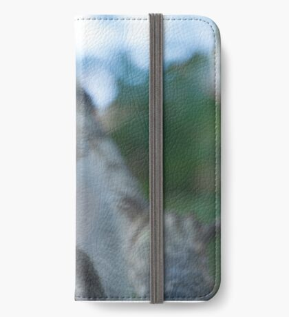 Relaxed macaque iPhone Wallet/Case/Skin