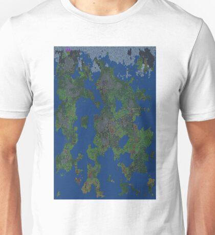 Dwarf Fortress Map Unisex T-Shirt