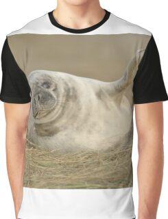 Grey Seal Pup Waves. Graphic T-Shirt