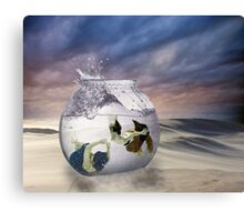 2 Lost Souls Living in a Fishbowl Canvas Print