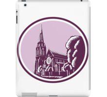 Christchurch Cathedral Woodcut Retro iPad Case/Skin