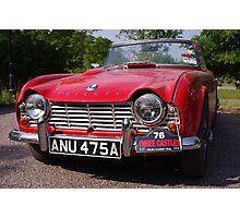 1963 Red Triumph TR4 Photographic Print