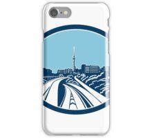 Sky Tower Auckland Woodcut Retro iPhone Case/Skin