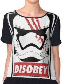 Star wars stormtrooper disobey Chiffon Top