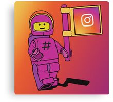 Instagram Benny - Social Media Inspired Lego Canvas Print
