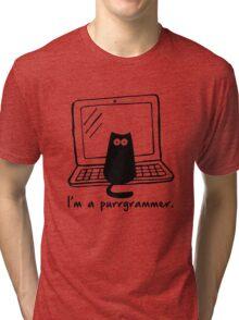 I'm a purrgrammer Tri-blend T-Shirt