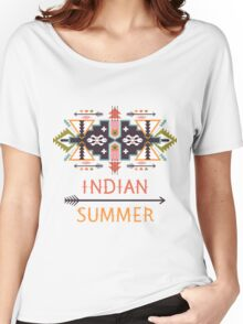 Vector colorful decorative element on native ethnic style Women's Relaxed Fit T-Shirt