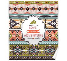 Vector colorful decorative element on native ethnic style Poster