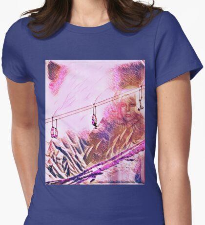 Alpenglow Goddess Womens Fitted T-Shirt