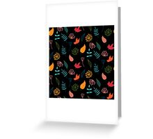 Hello autumn floral pattern Greeting Card