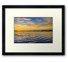 Crosby Marina Lake at sunset Framed Print