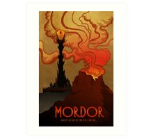 Mordor Travel Art Print