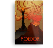 Mordor Travel Metal Print