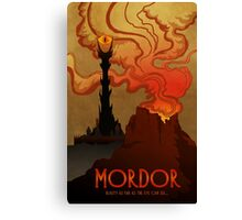 Mordor Travel Canvas Print