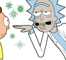 Rick and Morty Get Schwifty Christmas Design Sticker