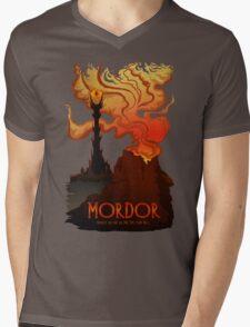 Mordor Travel Mens V-Neck T-Shirt