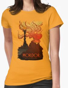 Mordor Travel Womens Fitted T-Shirt