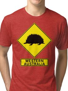 WONDERFUL WESTERN AUSTRALIA - ECHIDNA Tri-blend T-Shirt