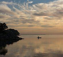 Kayaking Through Pink Gold by Georgia Mizuleva