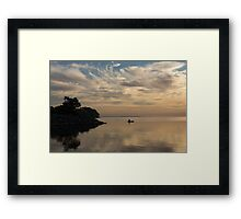 Kayaking Through Pink Gold Framed Print