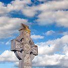 cloudy sky celtic cross by morrbyte