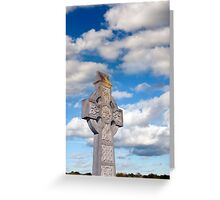 cloudy sky celtic cross Greeting Card