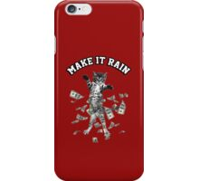 Dollar bills kitten - make it rain money cat iPhone Case/Skin