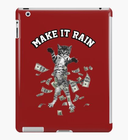 Dollar bills kitten - make it rain money cat iPad Case/Skin