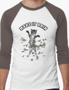Dollar bills kitten - make it rain money cat Men's Baseball ¾ T-Shirt