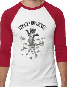 Dollar bills kitten - make it rain money cat Men's Baseball ¾ T-Shirt