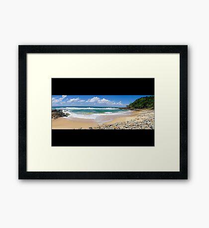 Coolum Beach - Queensland Australia - Panorama Framed Print